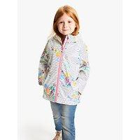 Little Joule Girls' Rain Dance Coat, Cream/Multi