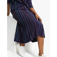 Armedangels Paana Vertical Stripe Skirt, Evening Blue
