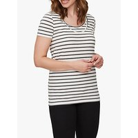 Mamalicious Lea Organic Striped Nursing Top, Pack of 2, Navy/White