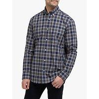 Eden Park Cotton Check Regular Fit Shirt, Blue/Grey
