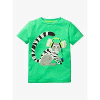Mini Boden Boys Applique Animal Dude Marmoset T-Shirt, Green