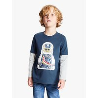 LEGO Boys Reversible Sequin T-Shirt, Navy