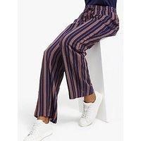 ARMEDANGELS Viviaan Stripe Trousers, Evening Blue/Maroon