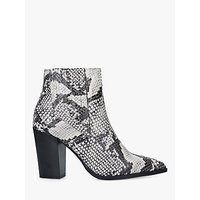shop for Carvela Sizzle Snake Block Heel Ankle Boots, Neutral at Shopo