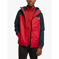 The North Face Quest 3-in-1 Mens Waterproof Jacket, TNF Red/TNF Black
