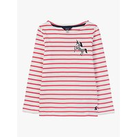 Little Joule Girls' Harbour Unicorn T-Shirt, Pink