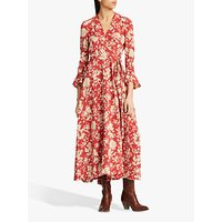 Polo Ralph Lauren Floral Print Maxi Dress, Red Meadow