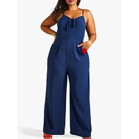 shop for Yumi Tie Knot Sleeveless Jumpsuit, Navy at Shopo