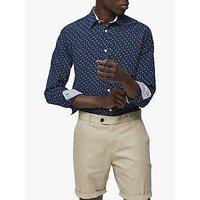 SELECTED HOMME Slim Fit Robert Detailed Shirt, Dark Sapphire