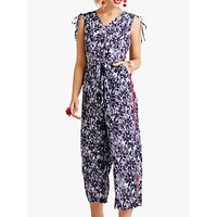 shop for Yumi Floral Print Sleeveless Jumpsuit, Navy at Shopo