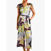 shop for Yumi Patchwork Print Sleeveless Jumpsuit at Shopo