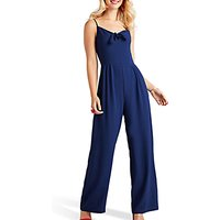 shop for Yumi Tie Knot Sleeveless Jumpsuit at Shopo