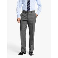 John Lewis and Partners Wool Crosshatch Regular Fit Suit Trousers, Grey