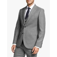 John Lewis and Partners Wool Puppytooth Tailored Fit Suit Jacket, Grey