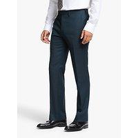 John Lewis and Partners Wool Birdseye Slim Fit Suit Trousers, Teal