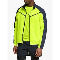 Ronhill Stride Windspeed Men's Running Jacket, Fluo Yellow/Charcoal