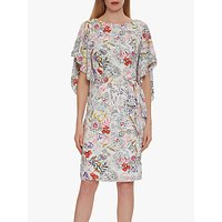 Gina Bacconi Alina Floral Frill Dress, Multi