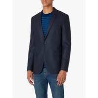 Paul Smith Flannel Wool Tailored Fit Suit Jacket, Navy