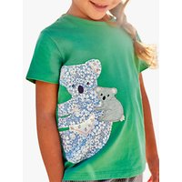 Mini Boden Girls' Patchwork Koala T-Shirt, Green