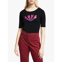 People Tree Love Organic Cotton T-Shirt, Black