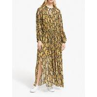 Second Female Snake Print Maxi Dress, Chai Tea