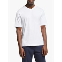 John Lewis & Partners V-Neck Lounge T-Shirt, White