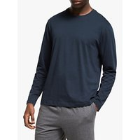 John Lewis & Partners Melange Organic Cotton Lounge T-Shirt, Navy