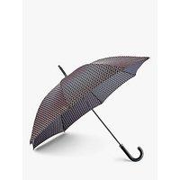 Fulton Foulard Print Walking Umbrella, Black/pink