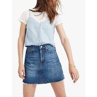 Madewell Denim Mini Skirt, Lakeline Wash