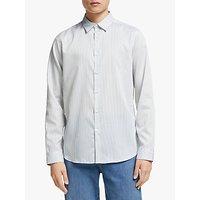 shop for Kin Cotton Stripe Shirt, White/Green at Shopo