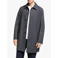 Kin Wool Blend Check Mac Coat, Grey