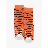 John Lewis & Partners Boys' Tiger Slipper Socks, Orange