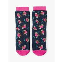 John Lewis & Partners Girls' Robin Slipper Socks, Blue