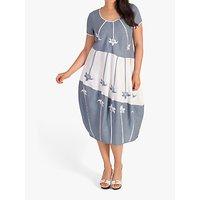 chesca Floral Motif Linen Dress