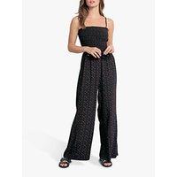 shop for hush Eleni Dot Print Jumpsuit, Black/Pink at Shopo