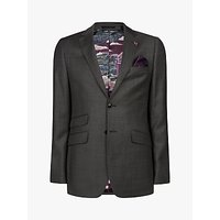 Ted Baker Bevlee Birdseye Wool Suit Jacket, Charcoal