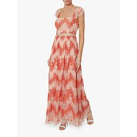 Gina Bacconi Retta Lace Dress, Orange