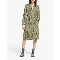 shop for AND/OR Layla Snake Print Shirt Dress, Green at Shopo