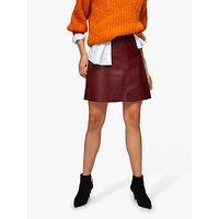 Selected Femme Mini Leather Skirt, Cabernet
