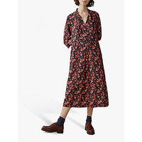 Toast Prairie Floral Print Dress, Slate/Coral