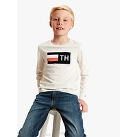 Tommy Hilfiger Boys Flocked Logo T-Shirt, Neutral