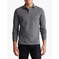 Polo Ralph Lauren Long Sleeve Polo Shirt, Grey Heather