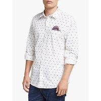 Scotch and Soda Dot Print Cotton Shirt, White