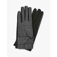 shop for Unmade Creda Houndstooth Pleat Detail Gloves, Dark Grey/Black at Shopo