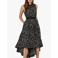 Ted Baker Frarley Floral Print Dress, Black