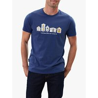 Joules Flynn Graphic Short Sleeve Cotton T-Shirt, Blue