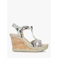 Carvela Kover Wedge Heel Sandals, Natural/Multi