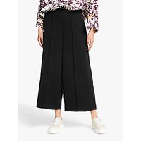 shop for Kin Twill Wide Leg Cropped Trousers, Black at Shopo