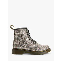 Dr Martens Childrens 1460 Chunky Glitter Lace Up Boots, Silver/Multi