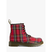 Dr Martens Childrens 1460 Lace Up Boots, Red Tartan